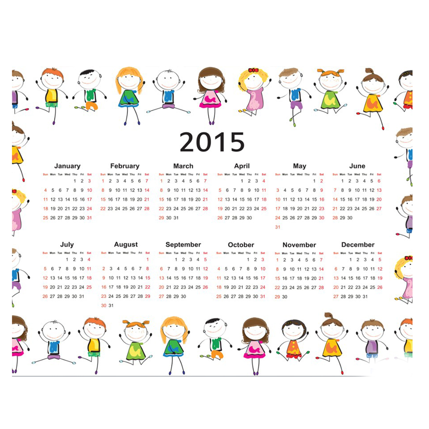 English Arabic Calendar 2015 2016 Wall Calendar 365 Day Calendar ...