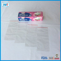 Free Sample polythene ziplock transparent packaging bag