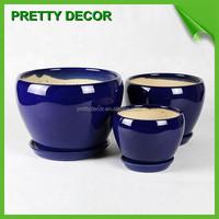 White Blue Orange Red Glazed Ceramic Flower Pots Planters