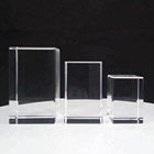 Factory Wholesale K9 crystal glass blank 3d laser engraving crystal block cube