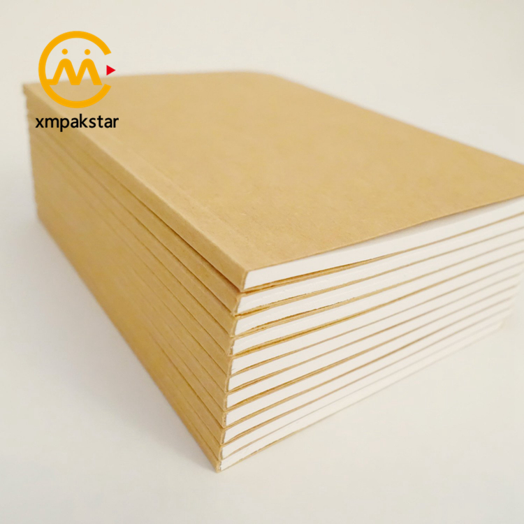 OEM factory cheap durable rounded corner glue binding blank school exercise books