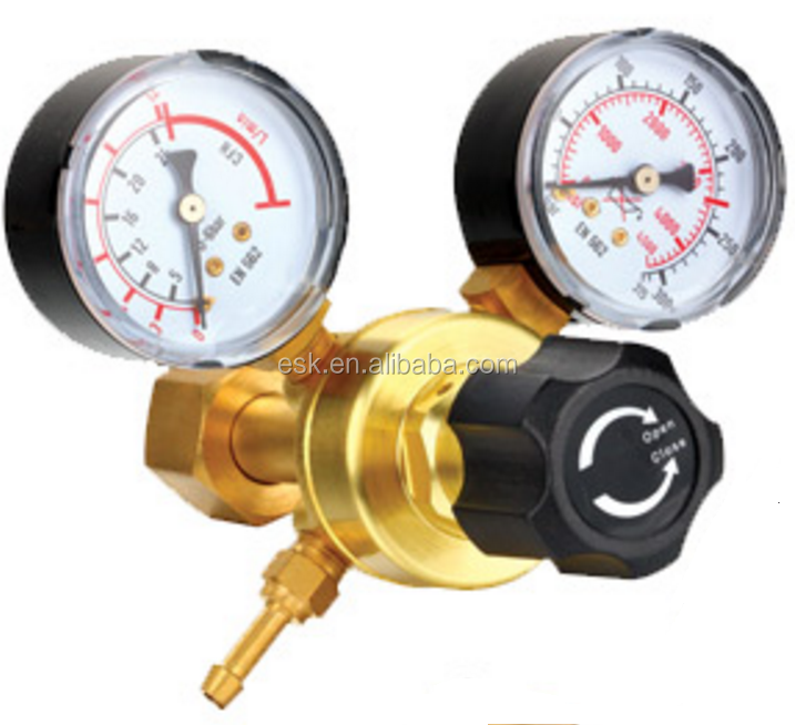 CO2/ARGON gas regulator with meter for mig welding machine