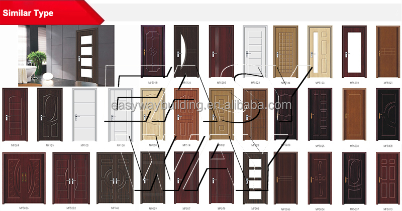 2015 New Design PVC MDF Interior Modern Best Wood Door