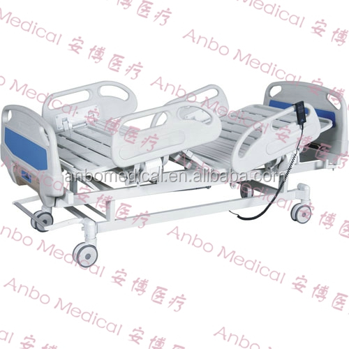 2 functions electric hospital bed with central control castors