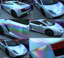 Holographic Chameleon Paint with the colors of the rainbow paint