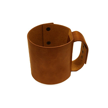 Leather Reusable Coffee Cup Sleeve Holder for cold hot drinks