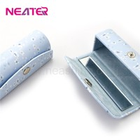wholesale new design PU leather empty lipstick holder case with mirror