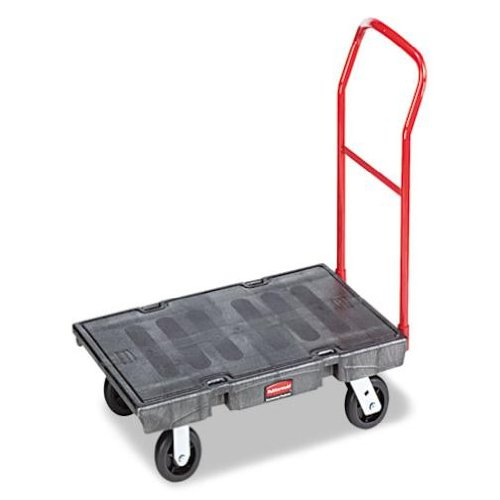 Rubbermaid Commercial Heavy-Duty Platform Truck Cart, 1000 Pound Capacity, 24 x 48 Platform, Black (443600BK)