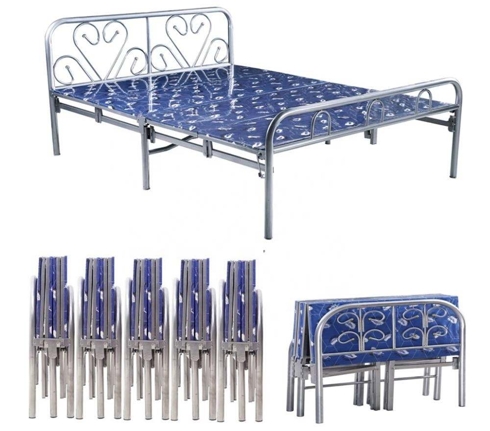 - Wholesale Cheap Twin Size Metal Folding Bed Metal Foldable Bed