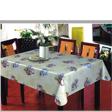 teapot transparent PVC printed table cloth