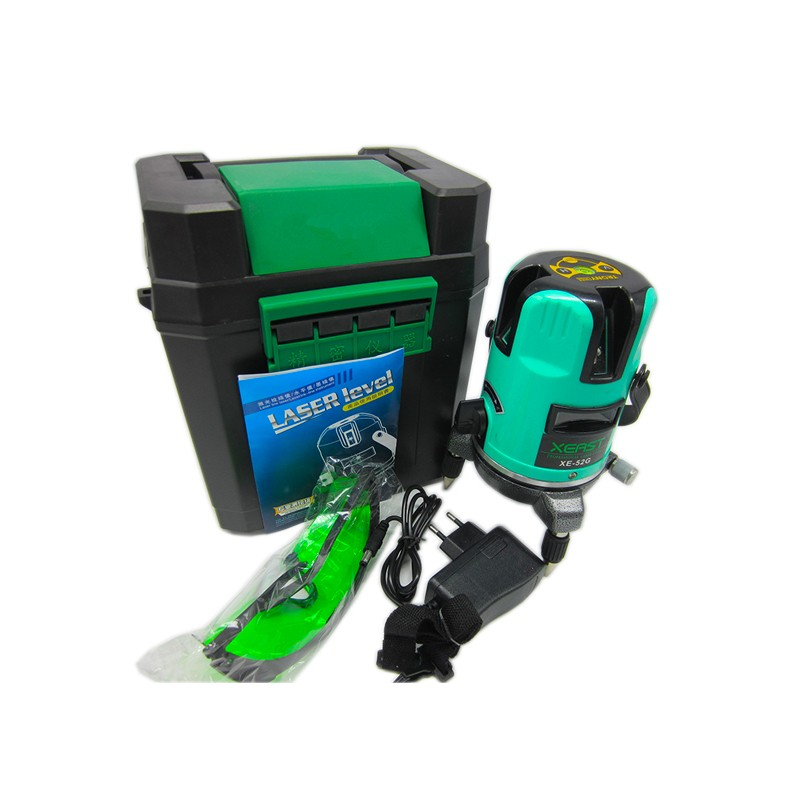 XEAST XE-52G 3 line 1 point Green Laser Level Meter Leveling Gradienter Tool Kit Self Leveling Green beam