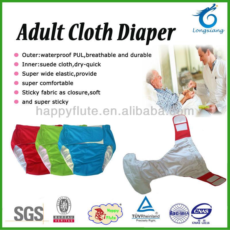 Transpirable happyflute adulto pañal de tela, pañales para adultos ...