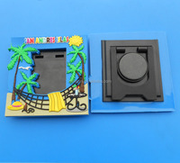 customized beach theme pvc picture frame promotional photo frame with magnet