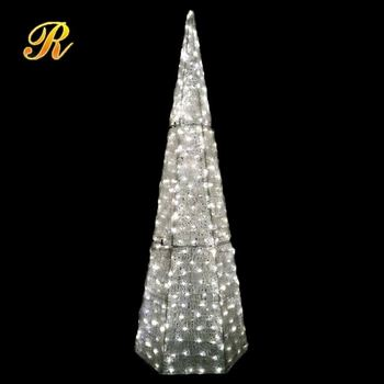 acrylic light up hexagon christmas tree for outdoor decoration