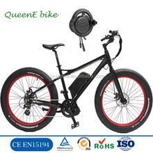 Sports Electric mountain bike snow bike with 26*4.0 fat tyre