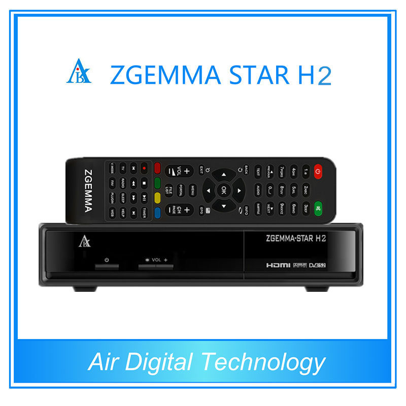 Air Digital Zgemma H2 DVB-S2+T2/C the Best Combo E2 Linux OS HD original samsung 109A tuner