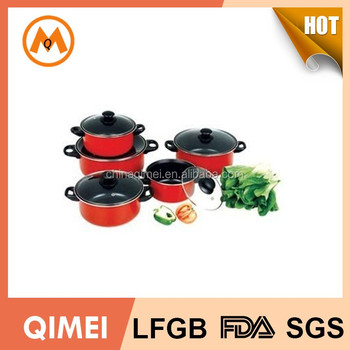0d940ead8c77 Master Chef Non-stick Cookware Set In Red Coating - Buy Master Chef ...