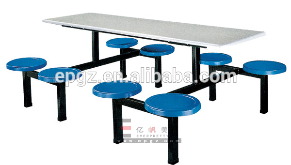 Canteen furniture dining table new model, funky restaurant furniture