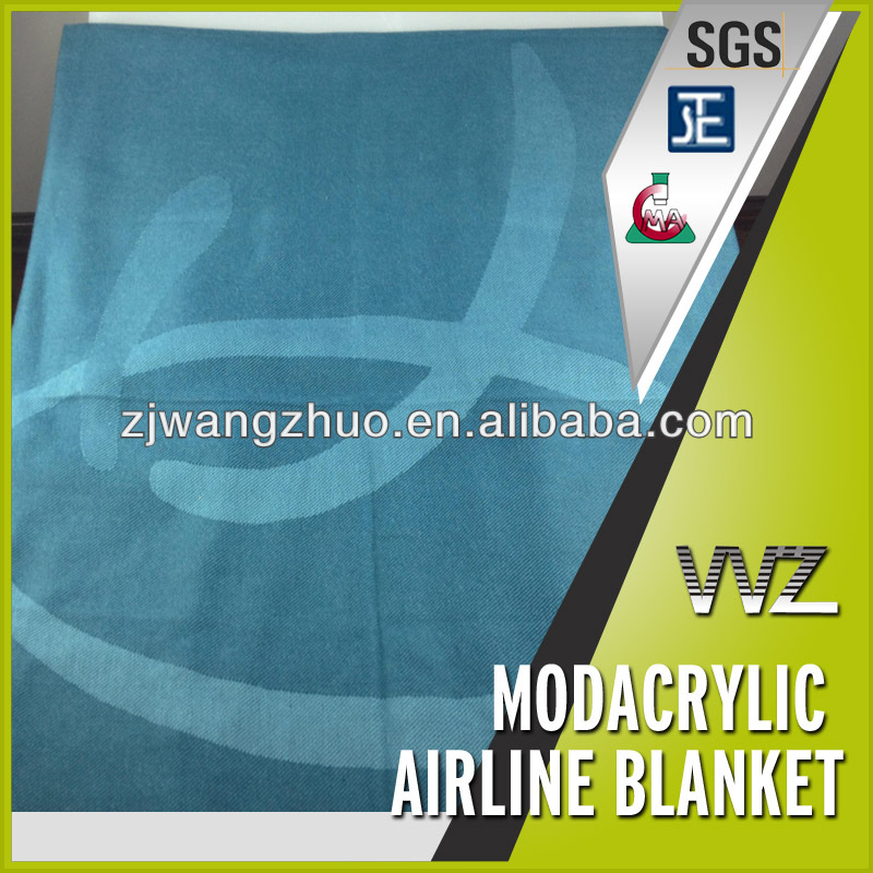 Jacquard woven airplane blanket Modacrylic flame retardant airline blanket Chinese manufacturer