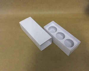 Folding Paper cardboard Votive Candle Boxes 220 mm x 82 mm x 72 mm with fitment for 3 candles, x box