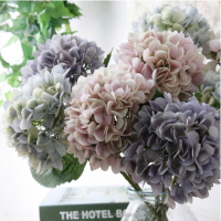 High quality Wholesale Artificial real touch silk hydrangea flower