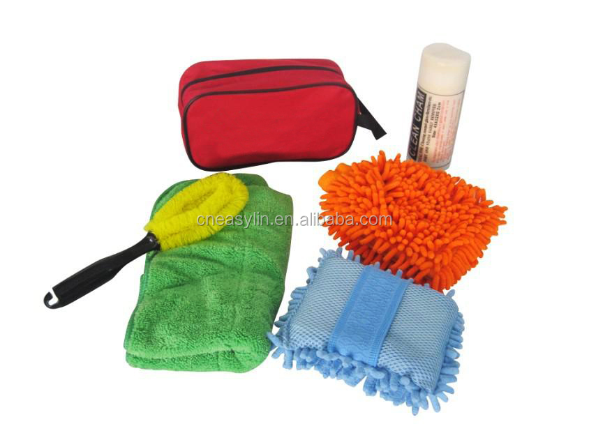 car cleaning products include chenille,clean cloth,clean bag,car cleaning leather cloth