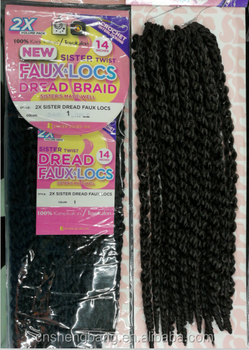Hot-sale 2X SISTER HAIRS NEW FAUXLOCS DREAD BRAID 14""