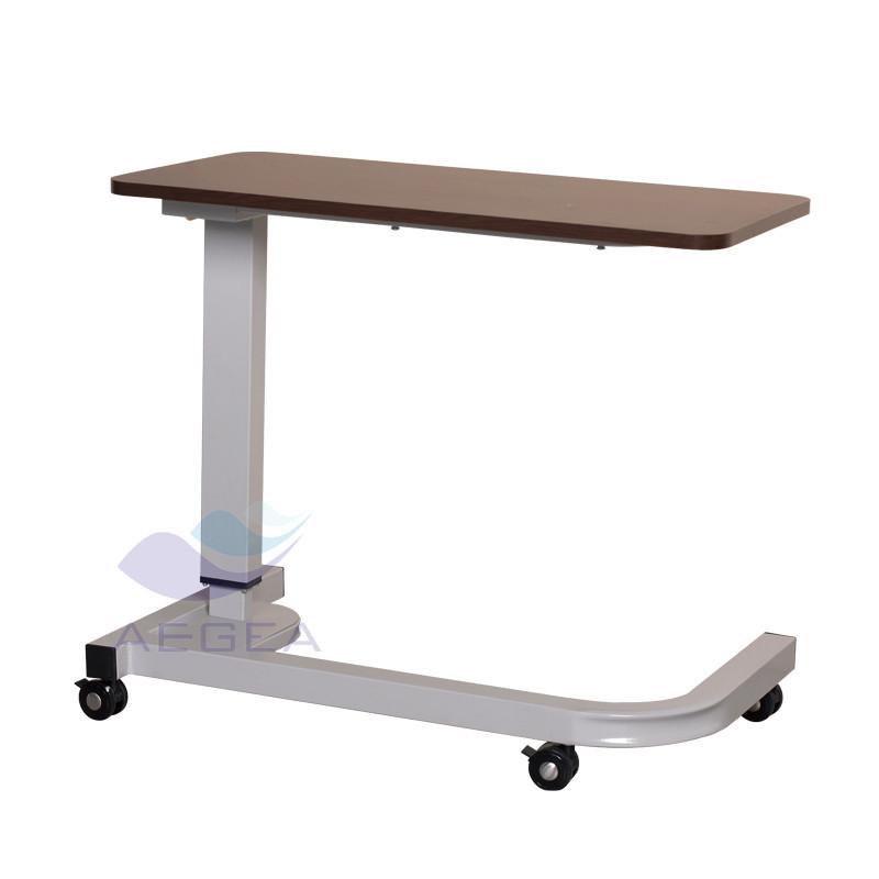ag-obt016 u type steel frame base overbed table hospital bed tray
