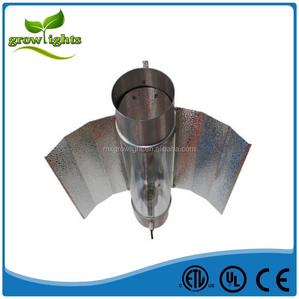 Hydroponic equipment Highly Reflective Aluminium Wing Cool tube grow ligjt reflector for HPS lamp