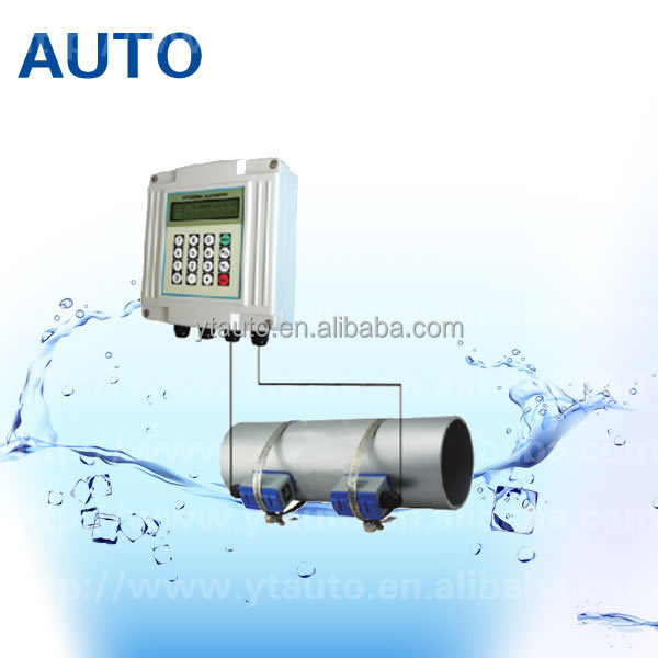 Low price portable ultrasonic flow <strong>meter</strong> for hot water/cool water with clamp on sensor