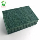 eco friendly best sell nylon kitchen cleaning polyester green scouring pad scrubbers