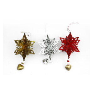 decorative hanging snowflakes in MDF for christmas decorations