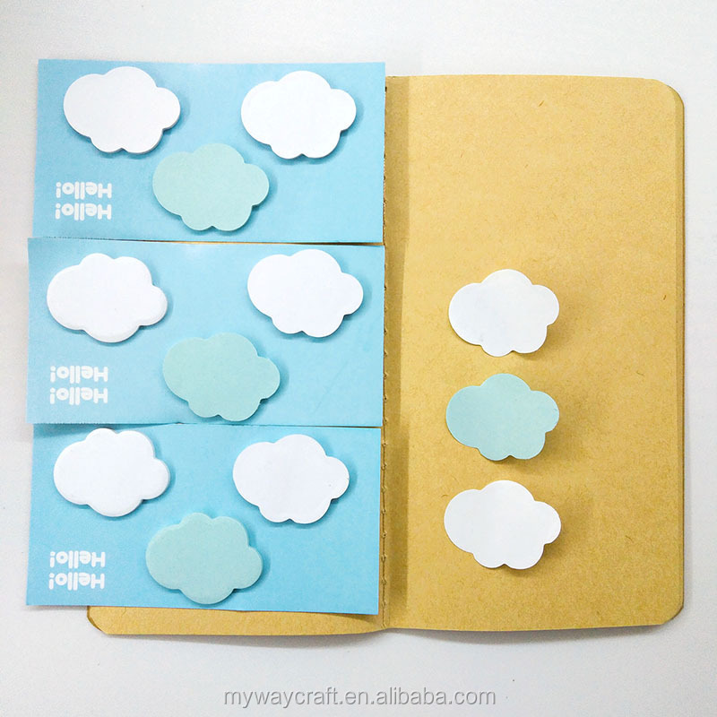 Cute Clouds Leaf Animal Forest Mini Memo Pad Stationery Sticker Notes Paper Bookmark Flags Sticky