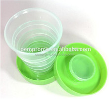 Promotional plastic eco-friendly collapsible cup