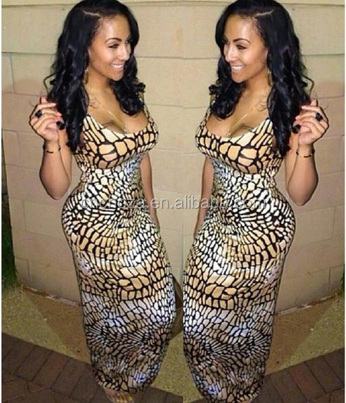 Z59086B Sexy ladies one pieces modern dress cutting fashion leopard printed casual dress