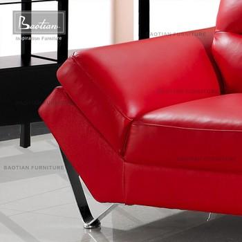 L Shape Living Room Sofa Belgium Modern Light Blue Leather Sofa