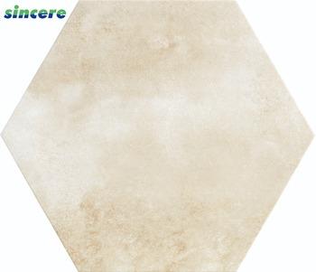200x230 520x600 Inkjet Hexagon Floor Tile Beige Colour