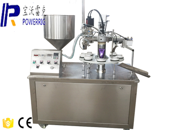 Cosmetic paste cream tube filling and sealiing machine