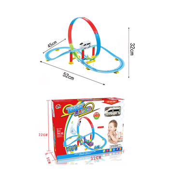 hot selling wholesale plastic electric train track set for kids