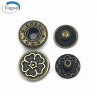 Eco-friendly High Polished Zinc Alloy Bulk Metal Snap Fasteners for Clothing