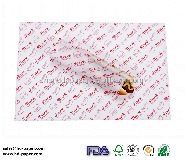 Coated Popsicle Food Wrapping Paper waterproof greaseproof