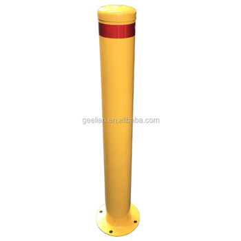 Australia Powder coated steel bollard/Inground Guard Pipe Stainless Steel City Warning Bollard/metal street traffic bollard