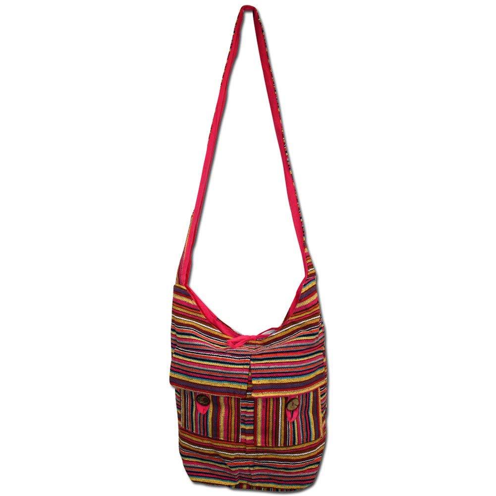 c6a762b47b Get Quotations · Jon s Imports Women s Handmade Hobo Hippie Shoulder Cross  Body Cotton Sling Bag
