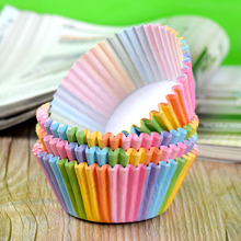 Rainbow Cake Case 100 Pcs Colourful Paper Cupcake