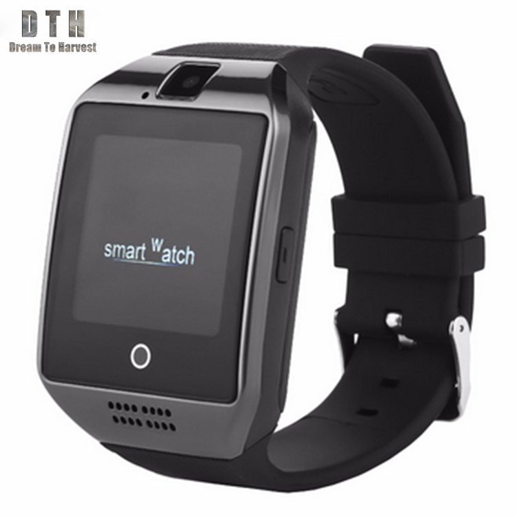 New design fashion girls Q18 sport smart watch Heart Rate monitor camera <strong>Android</strong> mobile <strong>phone</strong>
