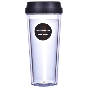 Mugs custom Drinkware Type and Eco-Friendly Feature 16oz double wall plastic tumbler