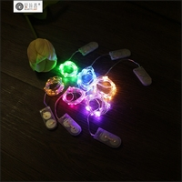 Christmas promotion warmwhite CR2032 copper wire decorative string lights in stock