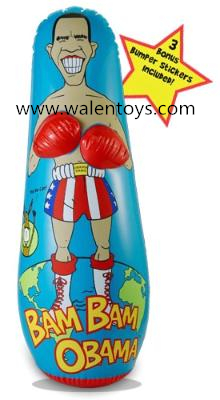 "inflatable tumbler/3D bop bag/ 48"" Bop Bag Punching Toy"