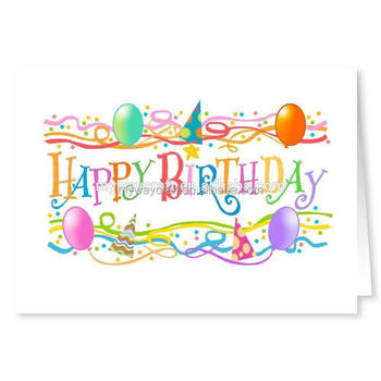 China Supplier Children Birthday Card With High Quality Buy Free