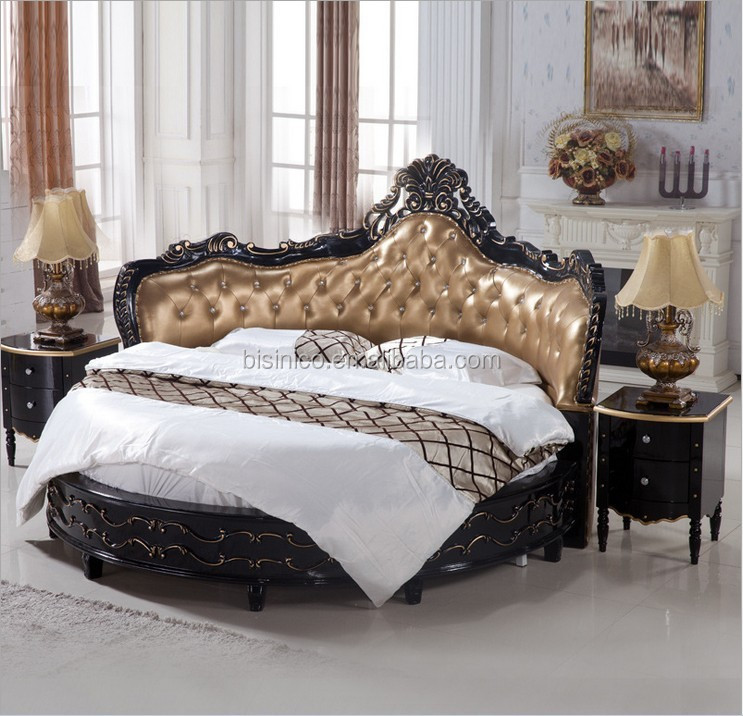 8 Luxury Bedrooms In Detail: Luxury Black Wooden Round Bed,Royal Black Round Bed